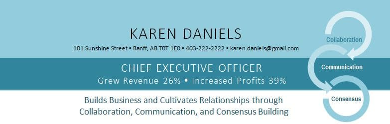 Executive Resume Design