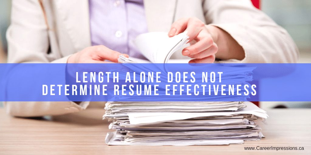 Resume Length Dispelled