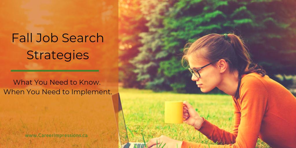Fall Job Search Strategies